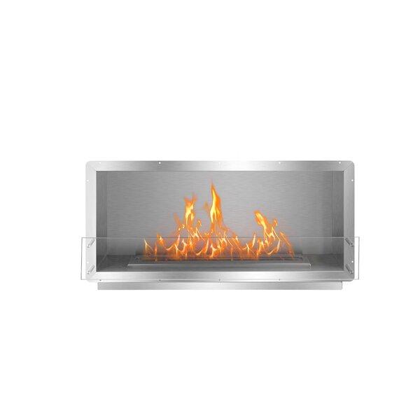 Straus Single Sided Wall Mounted Bio-Ethanol Fireplace Insert By Symple Stuff