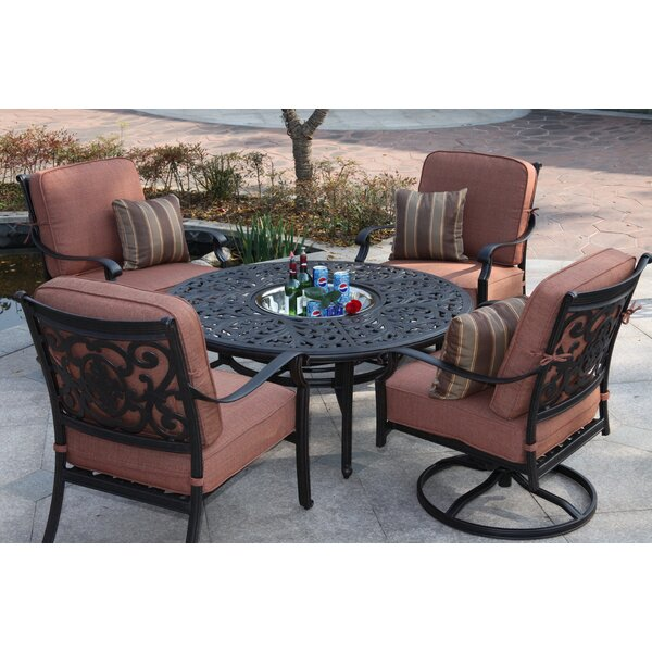 Parisi Patio 5 Piece Multiple Chairs Seating Group with Cushions by Canora Grey