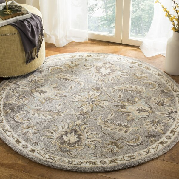 Amundson Hand Tufted Light Gray Area Rug by Charlton Home