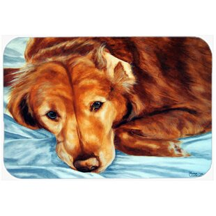 Golden Retriever Glass Cutting Board By Caroline's Treasures