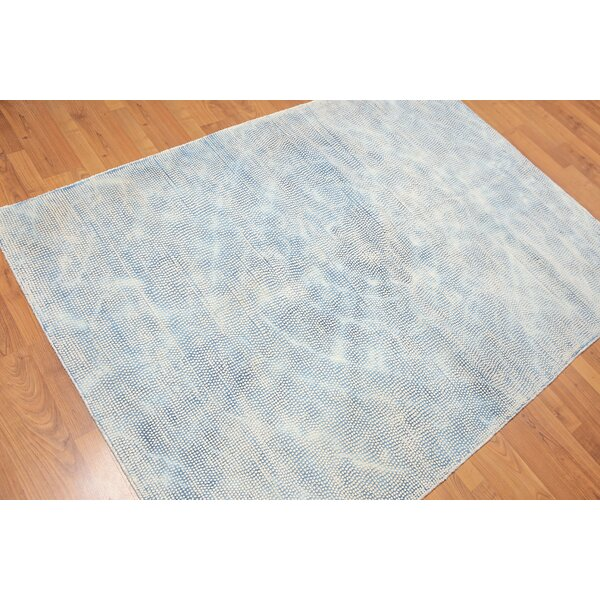 One-of-a-Kind Golden Oaks Hand-Tufted Wool Blue Area Rug by Bungalow Rose