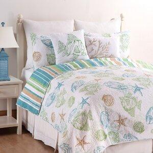 Reef Point Cotton Reversible Quilt Set