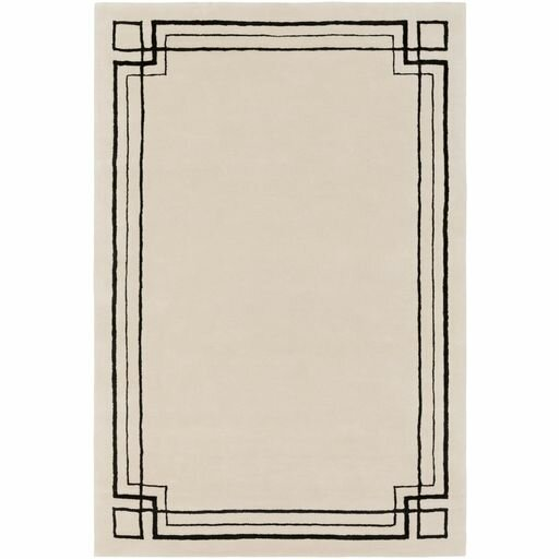 Intermezzo Hand-Tufted Border Area Rug by Elle Decor