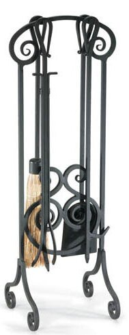 Antique Scroll 5 Piece Iron Fireplace Tool Set by Pilgrim Hearth