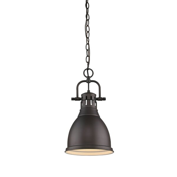 Bodalla 1-Light Bell Pendant by Beachcrest Home