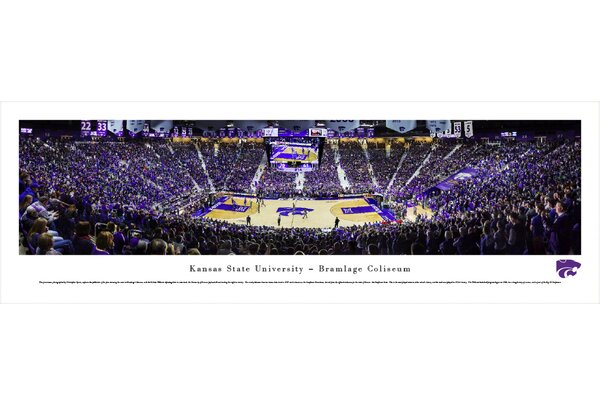 NCAA Kansas State University - Basketball by Christopher Gjevre Photographic Print by Blakeway Worldwide Panoramas, Inc