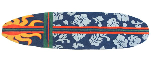 Barnstable Surfboard Navy Area Rug by Bay Isle Home
