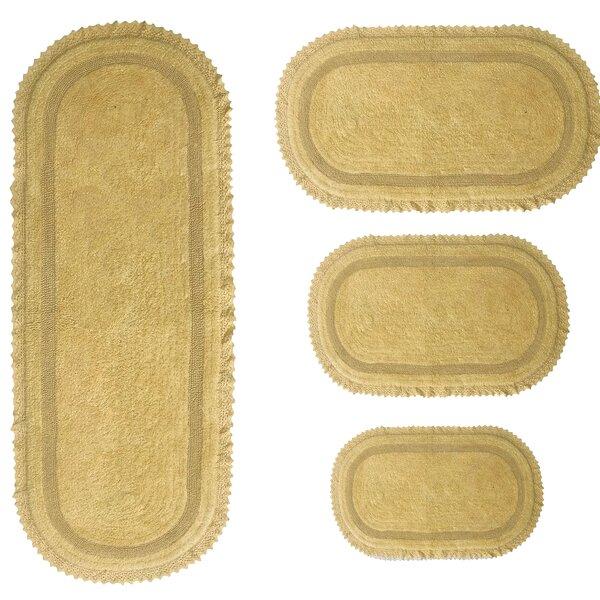 Georg Oval 100% Cotton Non-Slip piece Bath Rug Set