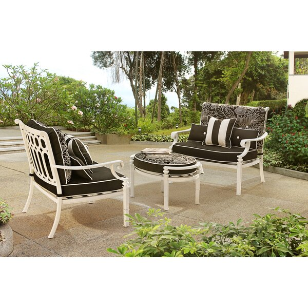 Derry 3 Piece Conversation Set with Cushions by Darby Home Co