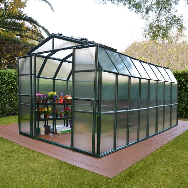 Grand Gardener 2 Twin Wall 8 Ft. W x 16 Ft. D Greenhouse by Rion Greenhouses