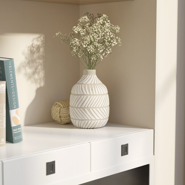 Gustave Ceramic Vase by Beachcrest Home