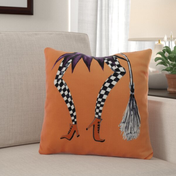Maser Halloween Throw Pillow by The Holiday Aisle