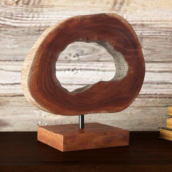 Small Teak Slice Sculpture by Loon Peak