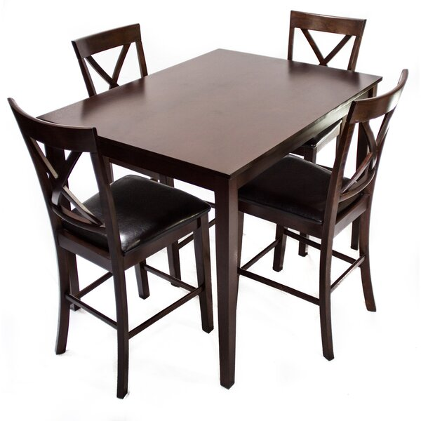 Counter Height Dinette 5 Piece Set by Hazelwood Home