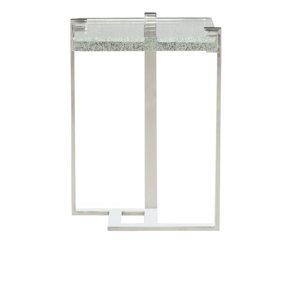 Mott Glass Frame End Table By Bernhardt