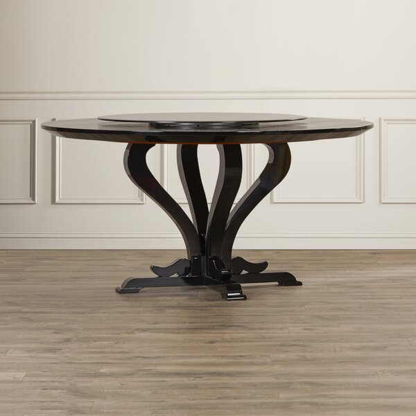 Burgess Hill Round Crocodile Lacquer Dining Table by Mercer41