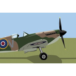 Supermarine Spitfire World War II Fighter Plane Graphic Art on Wrapped Canvas by East Urban Home