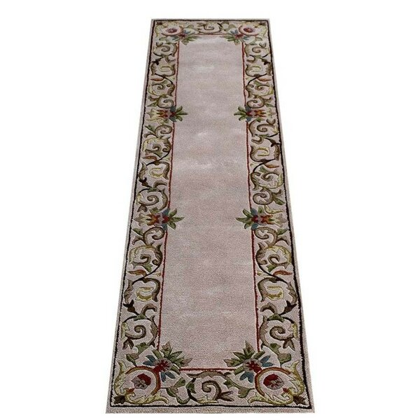 Knecht Oriental Hand-Tufted Wool Beige Area Rug by Alcott Hill