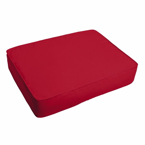Crimson Indoor/Outdoor Ottoman Cushion by Alcott Hill