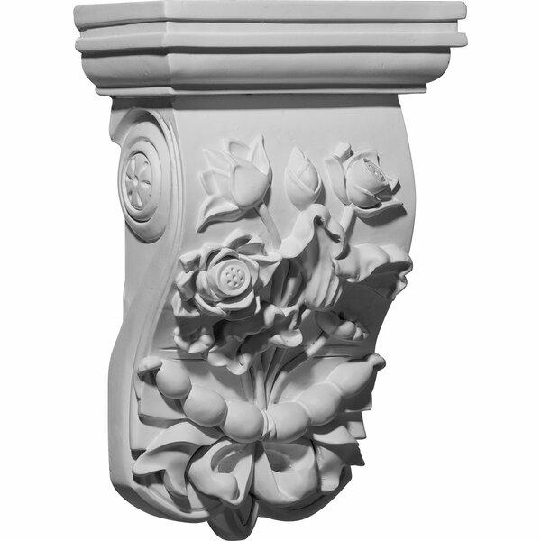 Flower 12 1/4H x 7 3/4W x 4 1/2D Corbel by Ekena Millwork