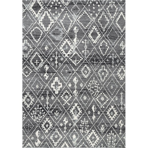 Cauley Dark Gray Area Rug by Bungalow Rose