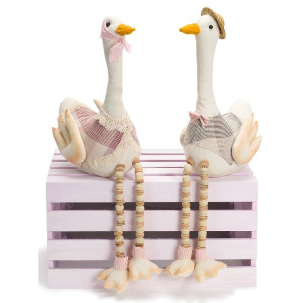 Farfan Goose Shelf Sitter Figurine (Set of 4) by The Holiday Aisle