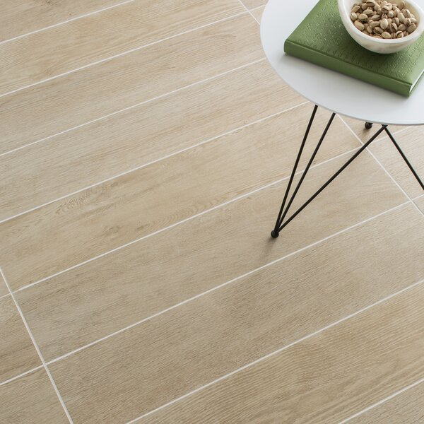Harmony Grove 8 x 36 Porcelain Wood Look Tile in Oak Champagne by PIXL