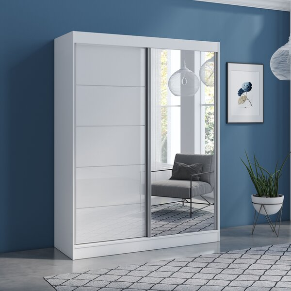 Neillsville 2 Door Modern High Gloss Armoire By Orren Ellis by Orren Ellis New