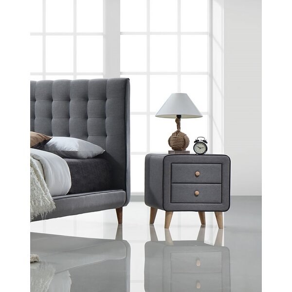 Cleitus 2 Drawer Nightstand by Corrigan Studio