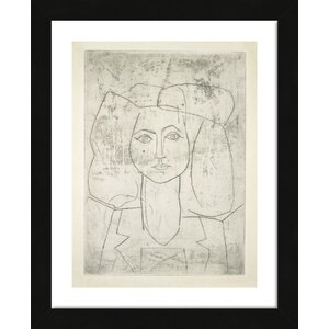 'Portrait of Francoise, Dressed...' by Pablo Picasso Framed Wall Art by McGaw Graphics