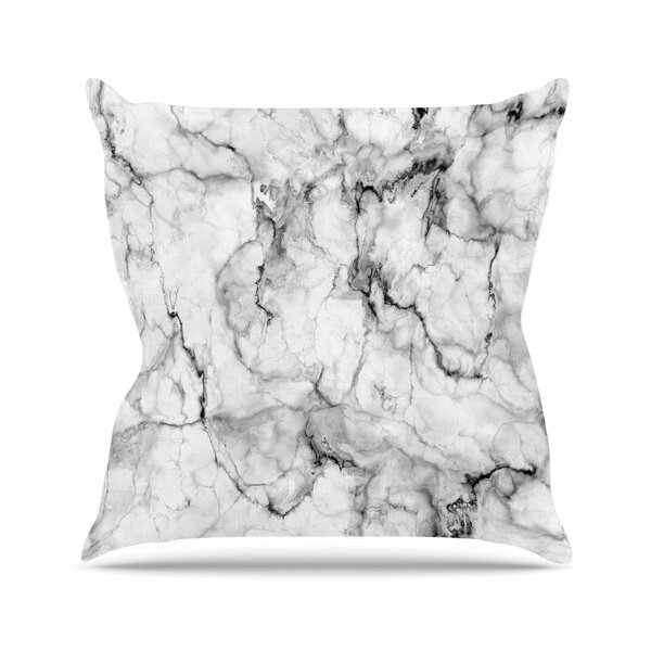 Marble No 2 Modern Outdoor Throw Pillow by East Urban Home