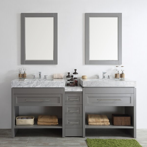 Malt 84 Double Vanity Set with Mirrors by Highland Dunes