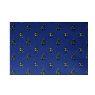 Great Price Crazy Christmas Decorative Holiday Print Royal Blue Indoor/Outdoor Area Rug By The Holiday Aisle
