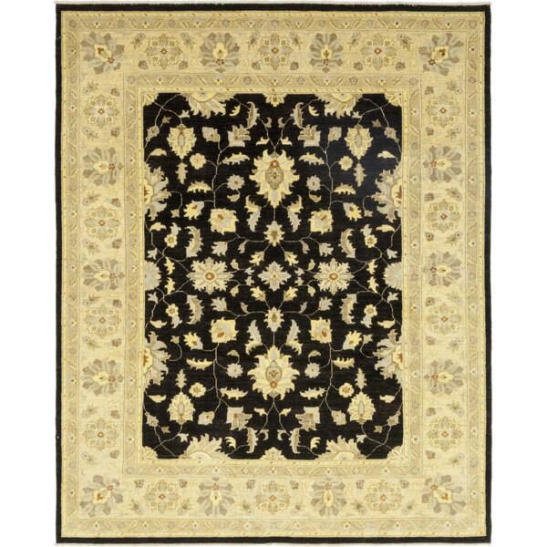 One-of-a-Kind Corrado Hand-Knotted Wool Beige/Black Indoor Area Rug by Astoria Grand