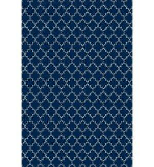 Fisher Quaterfoil Design Blue/White Indoor/Outdoor Area Rug by Winston Porter