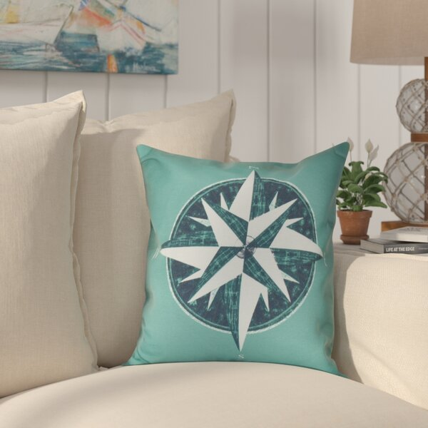 Hancock Compass Geometric Print Throw Pillow by Breakwater Bay