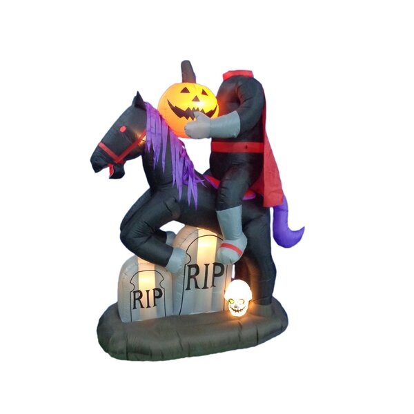 Headless Horse with Pumpkin and Tombstone by BZB Goods