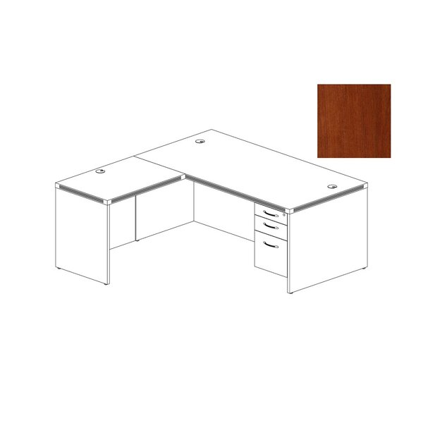 Aberdeen Series L-Shape Executive Desk by Mayline Group