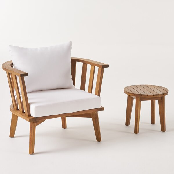 Reinhardt Patio Chair with Cushions by Highland Dunes Highland Dunes