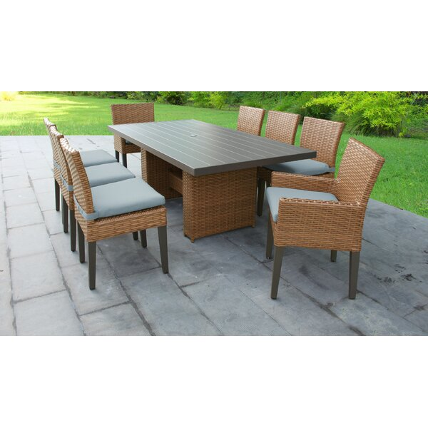 Waterbury Patio 9 Piece Dining Set with Cushions by Sol 72 Outdoor Sol 72 Outdoor