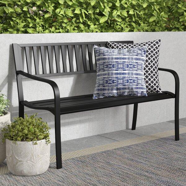Dorsey Slatted Steel Garden Bench by Winston Porter