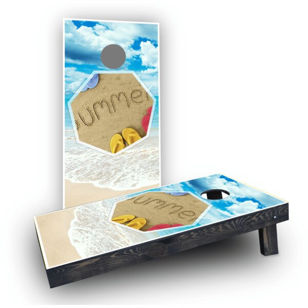 Beach Light Weight Cornhole Game Set by Custom Cornhole Boards