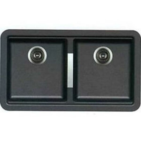 Granite Composite 33 L x 19 W Double Basin Undermount Kitchen Sink with Basket Strainer