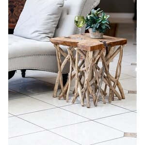 Habibi Teak End Table by Garden Age