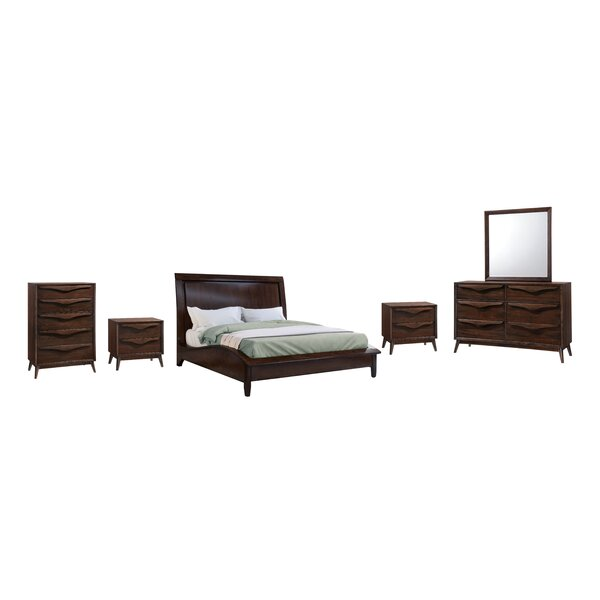 Lantz Platform Solid Wood 6 Piece Bedroom Set by George Oliver