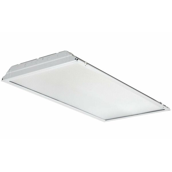 GTL Lay-In Troffer LED Semi Flush Mount with Prismatic Lens and Battery Pack by Lithonia Lighting