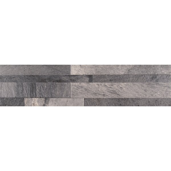 Ardesia Ledger 6 x 24 Porcelain Field Tile in Gray by MSI