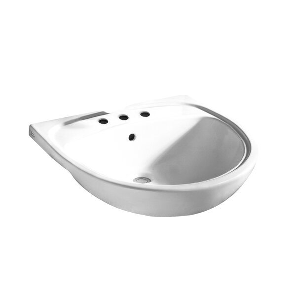 Mezzo Ceramic Circular Drop-In Bathroom Sink with Overflow by American Standard