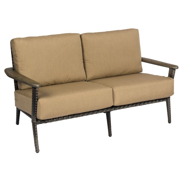 Draper Loveseat with Cushions by Woodard