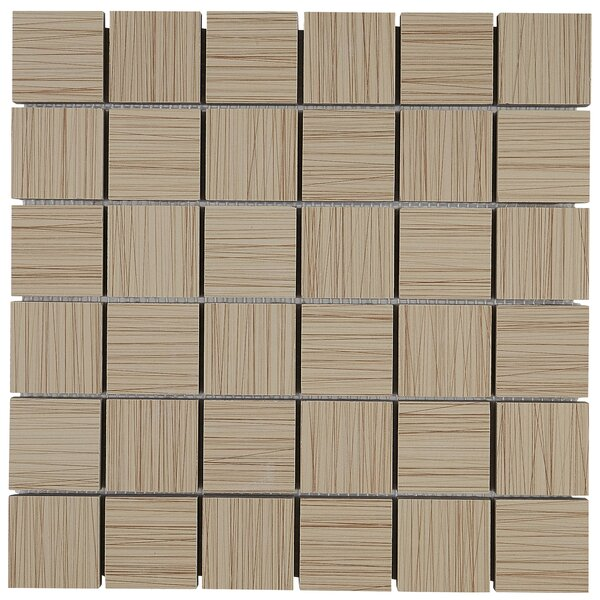 Fabrique 12 x 12 Ceramic Wood Look Tile in Soleil Linen by Daltile